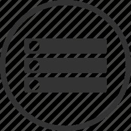 database, disk, memory, server, storage icon
