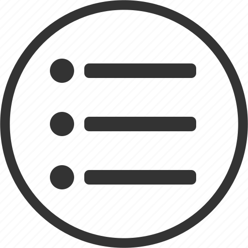 Menu, list, circle icon - Download on Iconfinder