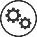 circle, gear, options, repair, settings, tool icon
