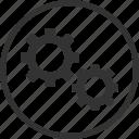 settings, gear, options, repair, tool, circle