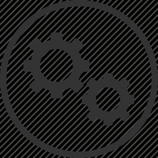 circle, gear, options, repair, settings, tool icon