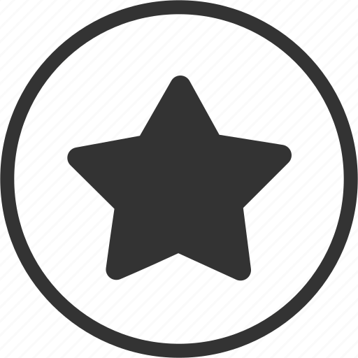 circle, favourite, rating, star icon