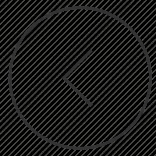arrow, back icon icon