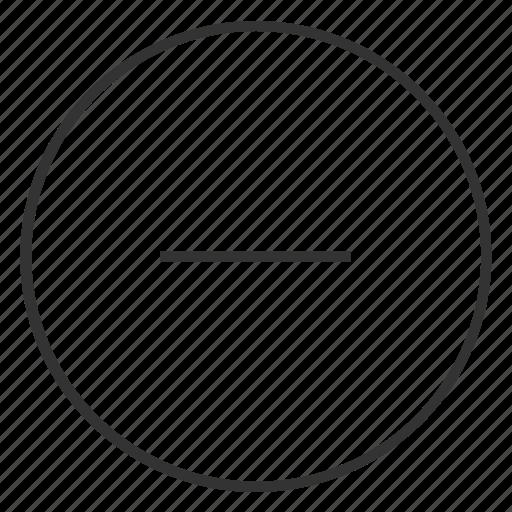 Circle, delete, minimize, minus, minus icon, remove icon - Download on Iconfinder