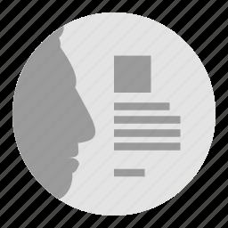 profile, resume icon