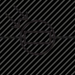 circuit, circuitry, diagram, ldr, light dependant resistor, resistor, science icon