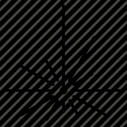 beam, bluray, circuitdiagram, emission, laser, radiation icon