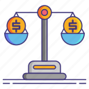 balance, budget, money, scale