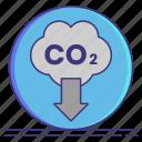carbon, co2, economy, emissions icon