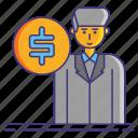 costs, economy, employee, money icon