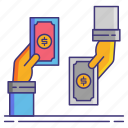 currency, exchange, money, rate icon