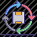 box, economy, materials, recyclable icon