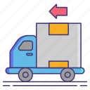 delivery, logistics, reverse, shipping icon