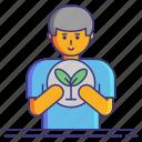 business, economy, plant, sustainability icon