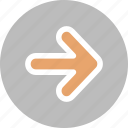 arrows, marker, move, navigation, pointer, right icon