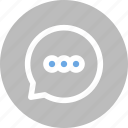 bubble, chat, chatting, comment, dialogue, message, talk icon