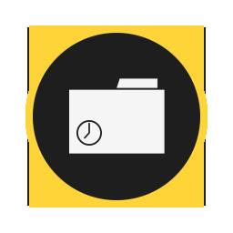 folder, places, recent icon