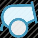 ball, cannon, circus, fire, shooting, wheel icon