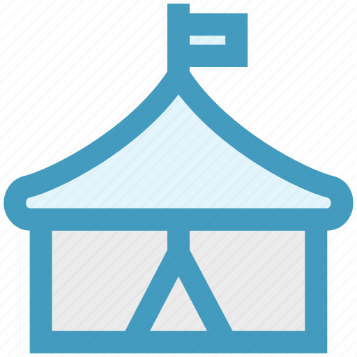 carnival, circus, entertainment, guest tent, shows, tent icon