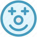 circus, clown, comedian, face, jester, joker, jokester icon