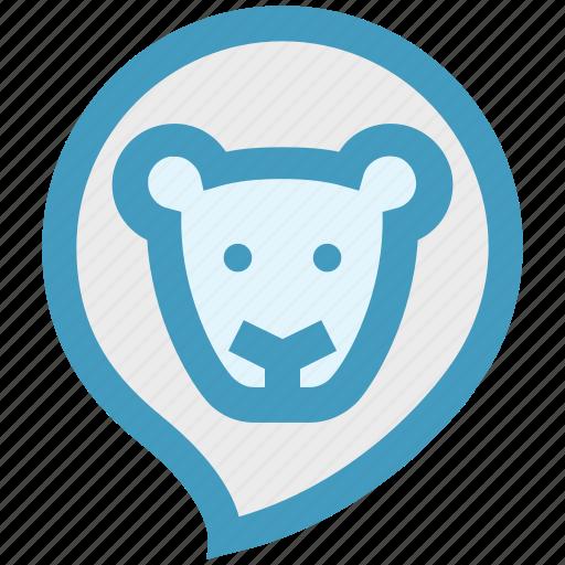 animal, baby animal, face, lion, wild animal, zoo icon