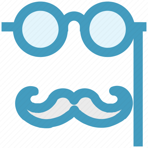 circus, fun, glasses, glasses and mustaches, glasses with mustaches, mustaches icon