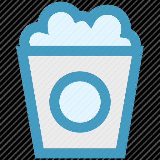 circus, kettle corn, popcorn, popcorn box, popcorn tin, popping corn icon