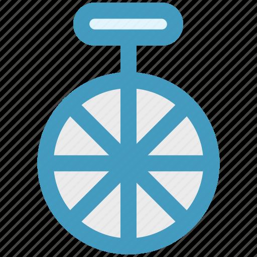 bike, circus, cycle, mono cycle, unicycle, wheel icon