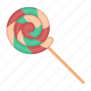 candy, caramel, dessert, food, spiral, sweet, sweetness icon