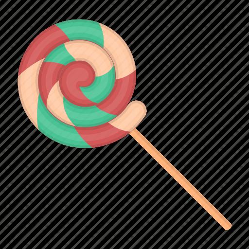 candy, caramel, dessert, food, spiral, sweet, sweetness icon