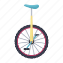 arena, circus, monocycle, trick, vehicle, wheel