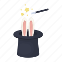 magic, wand, focus, rabbit, hat, ears