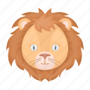 animal, head, lion, muzzle, predator, wild icon