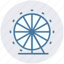 amusement park, carnival, circus, fairground, ferris wheel, sky wheel icon