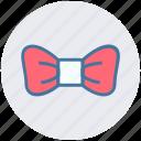 bow necktie, bow tie, circus, knot, necktie, tie icon