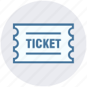 card, circus, label, mark, tag, ticket icon
