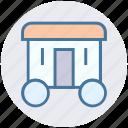 circus, circus cage, circus car, circus train car, circus wagon icon