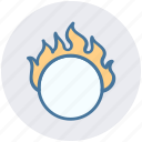 circus, circus show, circus trick, fire hoop, fire ring, ring, show icon