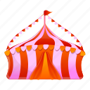 circus, event, flag, marquee, red, tent