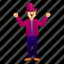 character, circus, clown, costume, fun, funny