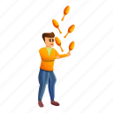 ball, character, cute, juggler, man, performer