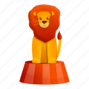 animal, arena, circus, cute, entertainment, lion