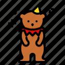 bear, animal, show, circus, carnival, zoo