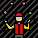 juggler, juggling, circus, carnival, show, entertainer