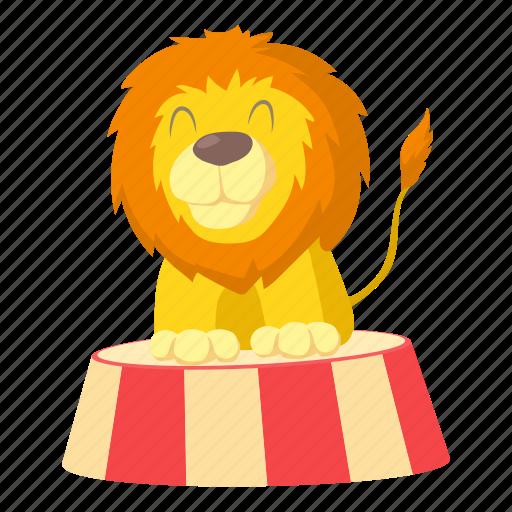 act, actor, animal, cartoon, circus, design, lion icon