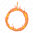 animal, arena, cartoon, circus, design, fire, ring icon