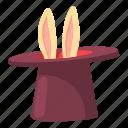 animal, cap, cartoon, circus, design, hat, magic icon