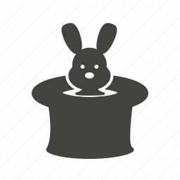 bunny, circus, hat, magic, rabbit, show, trick icon