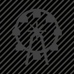circle, circus, ferris, festival, fun, wheel icon