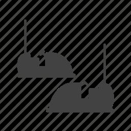 bumper, car, fun, game, race, racing, track icon